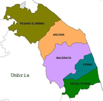 Marche Cartina Province.Provintsiya Province Non Solo Notizie