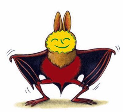 Pipistrello che ride non solo notizie - Contorno immagine di pipistrello ...